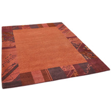 THEKO Nepalteppich Talonga Silk RSK569 red multi 160 x 230 cm
