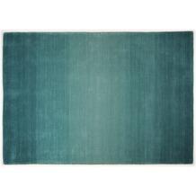 THEKO Teppich Wool Comfort, Ombre, turquoise 60cm x 90cm