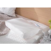 Theraline Bezug für PEARLfusion Kopfkissen Standard 50x32x12 cm aus BIO -Baumwolle Jersey Weiß (Dessin 20)