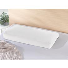 Theraline Bezug für PEARLfusion Kopfkissen XL Standard (12 cm hoch) 72x32x12 cm aus BIO -Baumwolle Jersey Weiß (Dessin 20)