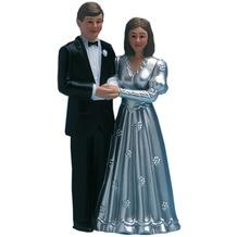 TIB Heyne Kuchendeko Brautpaar, silber, Höhe 115 mm, 1 Stück