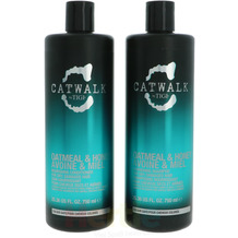 TIGI Catwalk Oatmeal & Honey Tween Set Shampoo 750ml/Conditioner 750ml - For Dry, Damaged Hair 1500 ml