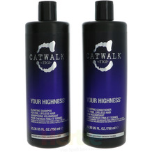 TIGI Catwalk Your Highness Tween Set Shampoo 750ml/Conditioner 750ml - For Body & Fullness 1500 ml