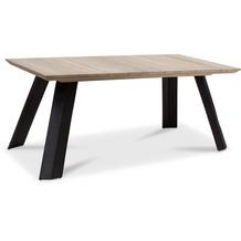 TINGO LIVING BALI Gartentisch, 180x90/76 cm, Teak vintage-grau/matt-schwarz