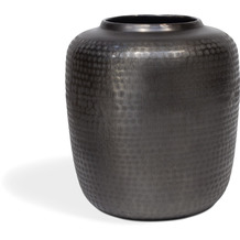TINGO LIVING BLOSSOM Vase 25x25/24 cm, rauchschwarz