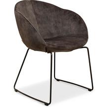 TINGO LIVING CUP Armlehnenstuhl, 75x61/81 cm, Samt graphit, Beine schwarz matt