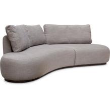 TINGO LIVING CURVE Sofa 260x130/80 cm, steingrau