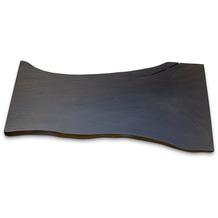 TINGO LIVING GIANT Baumstammtischplatte, black finish, 248 x 126 88 107 cm h 7,5 cm, Akazie natur