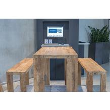 TINGO LIVING HAPPY HOUR Barsitzbank, 150 x 35 cm, Höhe 75 cm, recycletes Teak