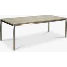 TINGO LIVING TIMBER Gartentisch, 220x100/77 cm, Teak vintage-grau