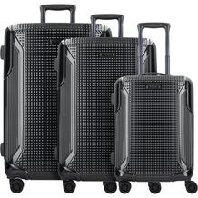 Titan Cody 3.0 4-Rollen Kofferset 3tlg. mit Doppelrollen schwarz