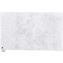 Tom Tailor Badteppich Cotton Pattern diamond 641 silber 60 cm x 60 cm