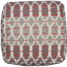 """Tom Tailor Pouf Smooth Comfort """"Small Pattern"""", red 50cm x 50cm"""