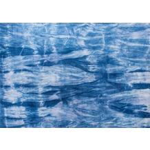 Tom Tailor Viskose-Teppich Shine Batik 700 blau 65 cm x 135 cm