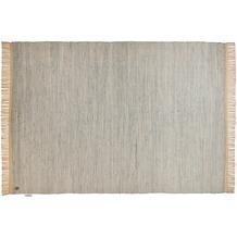 Tom Tailor Handwebteppich Cotton Color uni grau 80 cm x 150 cm