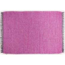 Tom Tailor Handwebteppich Cotton Colors uni purple 60 cm x 120 cm