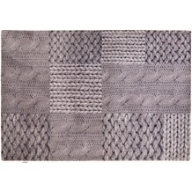 Tom Tailor Teppich Happy Patchwork Knit grey 65cm x 135cm