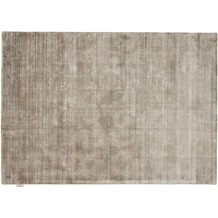Tom Tailor Viskose-Teppich Shine, uni, grau 140cm x 200cm