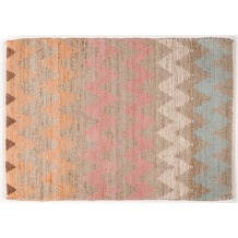 Tom Tailor Handwebteppich Smooth Comfort Pastel Zigzag multi 65 cm x 135 cm