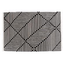 Tom Tailor Teppich Vintage CrissCross black / white 65 x 135 cm