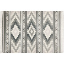 Tom Tailor Vintage-Handwebteppich Kelim Colors I grau 140 cm x 200 cm