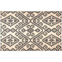 Tom Tailor Vintage-Handwebteppich Large Pattern black 65 cm x 135 cm