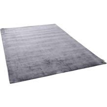 Tom Tailor Viskose-Teppich Shine uni 602 anthrazit 140 cm x 200 cm