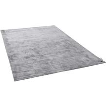 Tom Tailor Viskose-Teppich Shine uni 650 grau 140 cm x 200 cm
