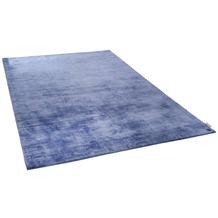 Tom Tailor Viskose-Teppich Shine uni 700 blau 160 cm x 230 cm