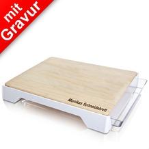Tomorrow's Kitchen Schneidebrett mit Auffangschale MIT GRAVUR (z.B. Name)