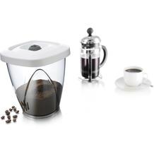 Tomorrow's Kitchen Vakuum Aufbewahrungsbehälter medium weiß/grau