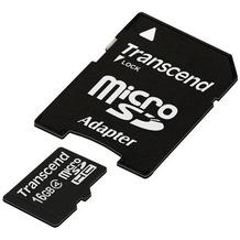 Transcend microSDHC Class 4, 16GB + SD-Adapter