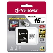 Transcend 16GB mircoSDHC, Class 10, Video Recording