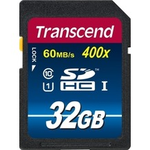 Transcend 32GB SDHC Class 10 UHS-I 400x Premium