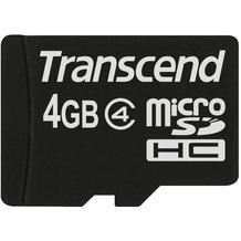 Transcend microSDHC Class 4, 4GB
