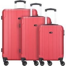 Travel Pal Brisbane 2.0 4-Rollen Kofferset 3tlg. mit Doppelrollen rot