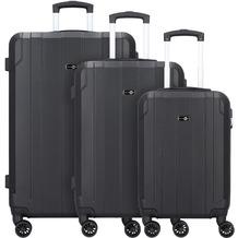 Travel Pal Brisbane 2.0 4-Rollen Kofferset 3tlg. mit Doppelrollen schwarz