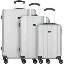 Travel Pal Brisbane 2.0 4-Rollen Kofferset 3tlg. mit Doppelrollen silber