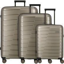 travelite Air Base 4-Rollen Kofferset 3tlg. champagner
