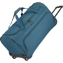 travelite Basics Fresh Rollenreisetasche 71 cm petrol