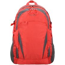 travelite Basics Rucksack 47 cm rot grau