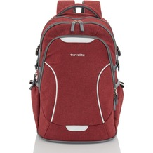 travelite Basics Schulrucksack 45 cm d'rot grau