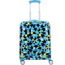 travelite Campus 4-Rollen Trolley 55 cm quadro blau
