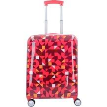 travelite Campus 4-Rollen Trolley 55 cm quadro pink