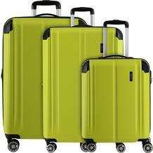 travelite City 4-Rollen Kofferset 3tlg. limone