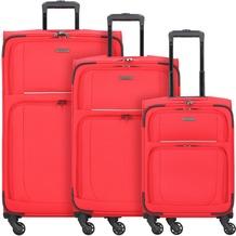 travelite Garda 2.0 4-Rollen Kofferset 3 tlg. rot grau