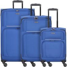 travelite Garda 2.0 4-Rollen Kofferset 3 tlg. royal blau grau