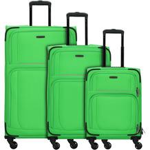 travelite Garda 2.0 4-Rollen Kofferset 3tlg. apfelgruen grau