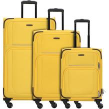 travelite Garda 2.0 4-Rollen Kofferset 3tlg. gelb grau