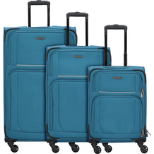 travelite Garda 2.0 4-Rollen Kofferset 3tlg. petrol grau